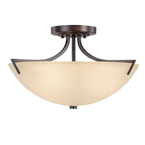 Capital Lighting Capital Lighting Stanton Burnished Bronze Semi-Flushmount Light 4037BB