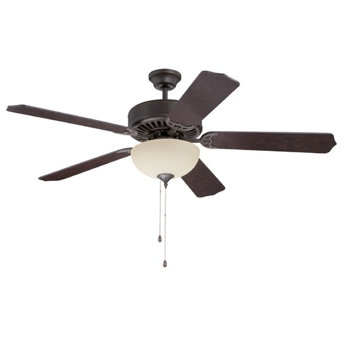 Craftmade Lighting Craftmade Pro Builder 208 Aged Bronze Textured Ceiling Fan with Light K11125