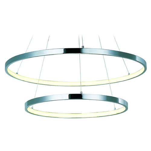 ET2 Lighting Hoops LED Polished Chrome LED Pendant Light E22714-PC