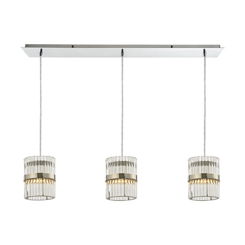 Elk Lighting Elk Lighting Nescott Polished Chrome Multi-Light Pendant 45284/3LP