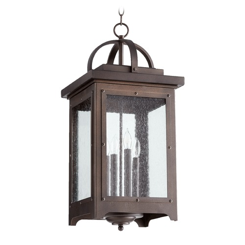 Quorum Lighting Quorum Lighting Riverdale Oiled Bronze Outdoor Hanging Light 758-4-86