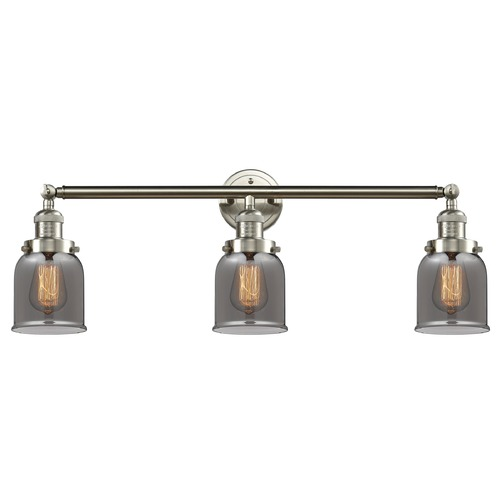 Innovations Lighting Innovations Lighting Small Bell Brushed Satin Nickel Bathroom Light 205-SN-S-G53