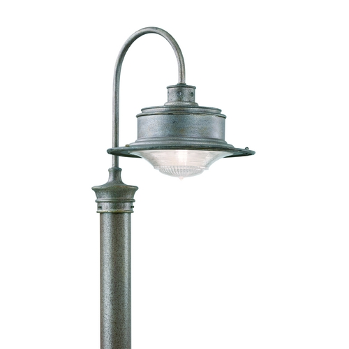 Troy Lighting Post Light with Clear Glass in Old Rust Finish P9393OR