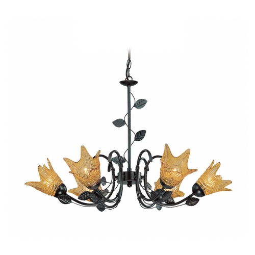 Lite Source Lighting Lite Source Lighting Farrell Dark Bronze Chandelier LS-19886