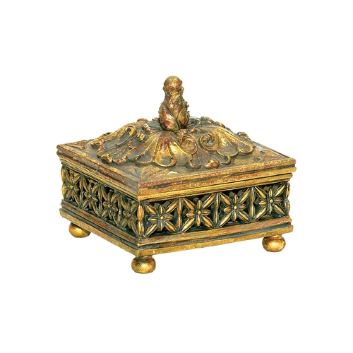 Sterling Lighting Box in Gold Finish 7-0540