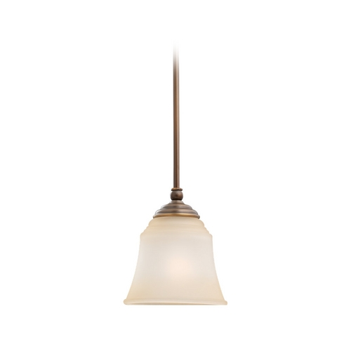 Sea Gull Lighting Mini-Pendant Light with Beige / Cream Glass 69380BLE-829