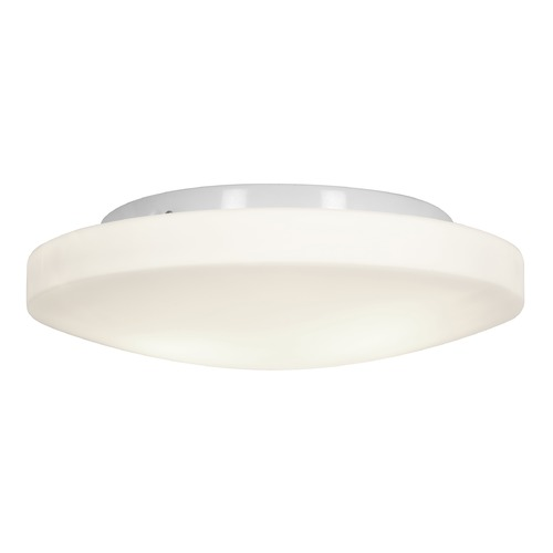 Access Lighting Modern Flushmount Light with White Glass in White Finish 50161-WH/OPL
