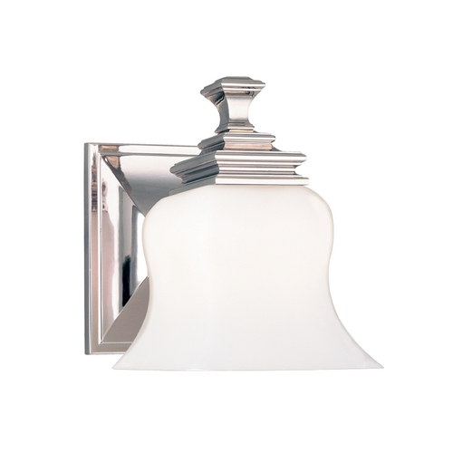Hudson Valley Lighting Sconce with White Glass in Polished Nickel Finish 5501-PN