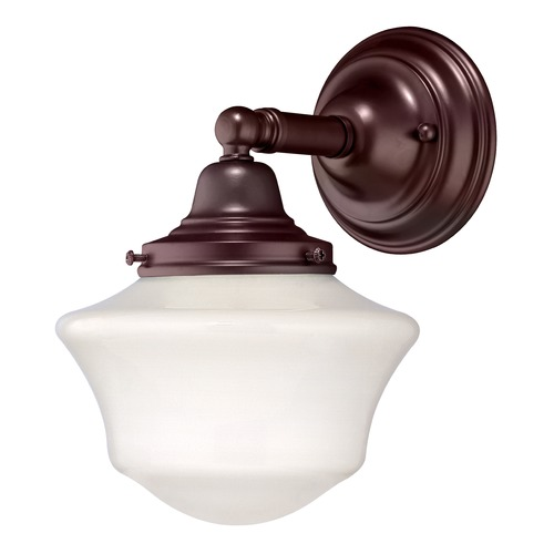 Design Classics Lighting Schoolhouse Sconce in Bronze Finish WC1-220 / GC6
