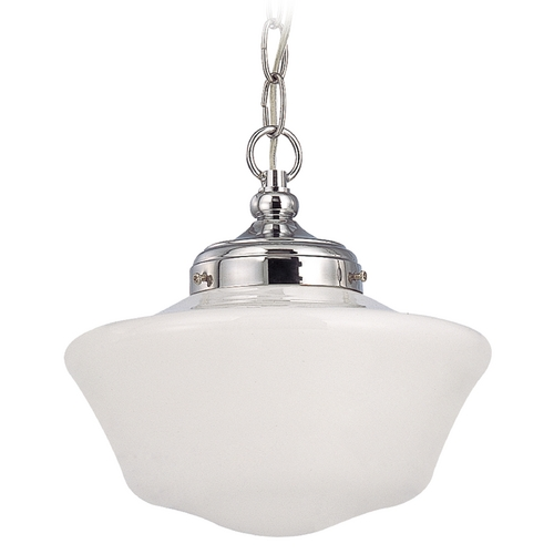 Design Classics Lighting 10-Inch Retro Style Schoolhouse Mini-Pendant Light with Chain FA4-26 / GA10 / A-26
