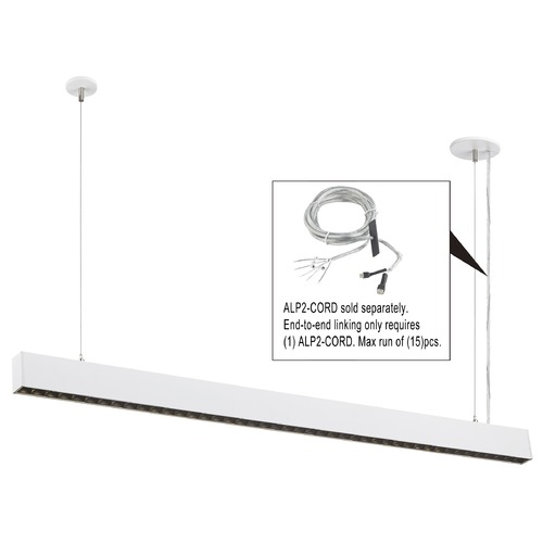 Recesso Lighting by Dolan Designs Recesso 46-Inch White LED Linear Office Light 3500K 5400LM ALP2-835-50-2-W