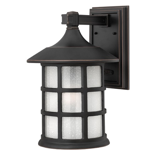 Hinkley Lighting LED Outdoor Wall Light with White Glass in Olde Penny Finish 1805OP-LED