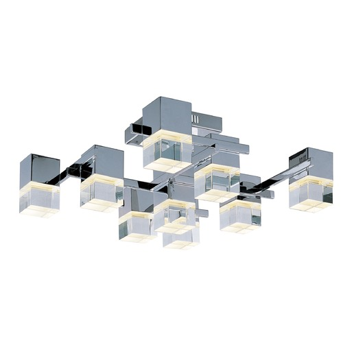 ET2 Lighting Nova LED Polished Chrome LED Flushmount Light E31200-75PC