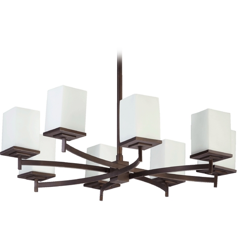 Quorum Lighting Quorum Lighting Delta Oiled Bronze Chandelier 6084-8-86