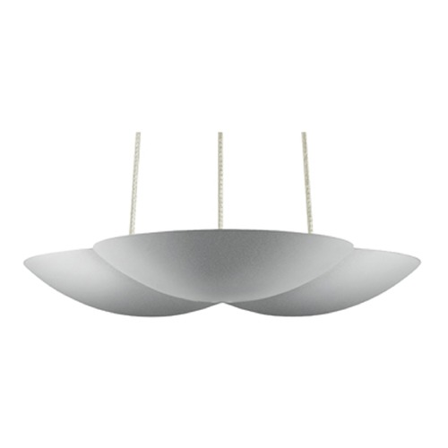Sonneman Lighting Sonneman Little Cloud Bright Satin Aluminum LED Mini-Pendant Light   2734.16