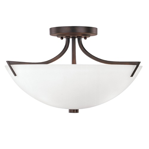 Capital Lighting Capital Lighting Stanton Burnished Bronze Semi-Flushmount Light 4037BB-SW