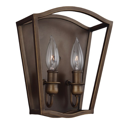 Feiss Lighting Feiss Lighting Yarmouth Painted Aged Brass Sconce WB1746PAGB