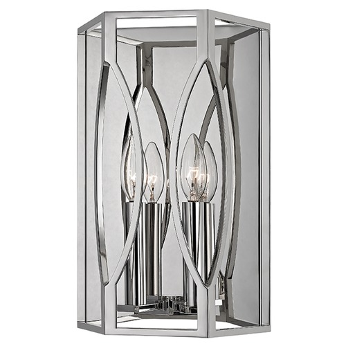 Hudson Valley Lighting Roswell 2 Light Sconce - Polished Nickel 6502-PN