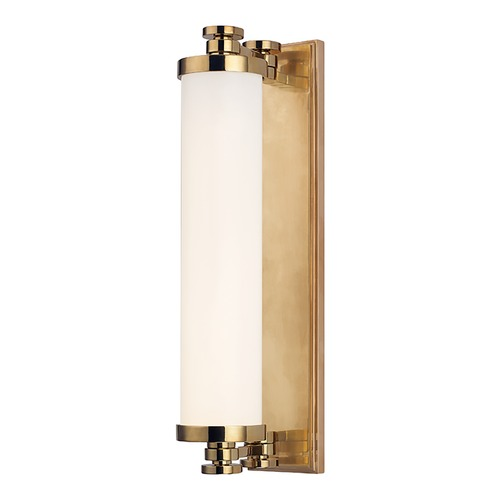 Hudson Valley Lighting Sheridan Aged Brass LED Bathroom Light 9708-AGB