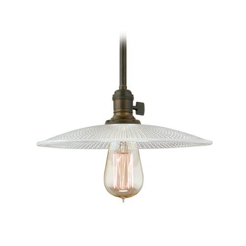 Hudson Valley Lighting Hudson Valley Lighting Heirloom Old Bronze Pendant Light with Bowl / Dome Shade 9001-OB-GS4