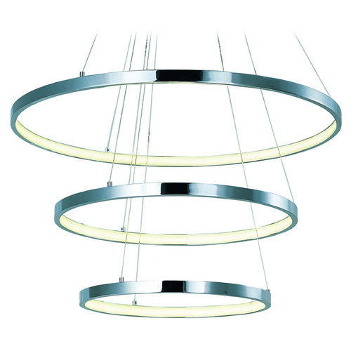 ET2 Lighting Hoops LED Polished Chrome LED Pendant Light E22715-PC
