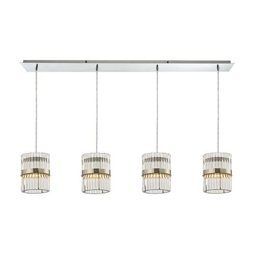 Elk Lighting Elk Lighting Nescott Polished Chrome Multi-Light Pendant 45284/4LP