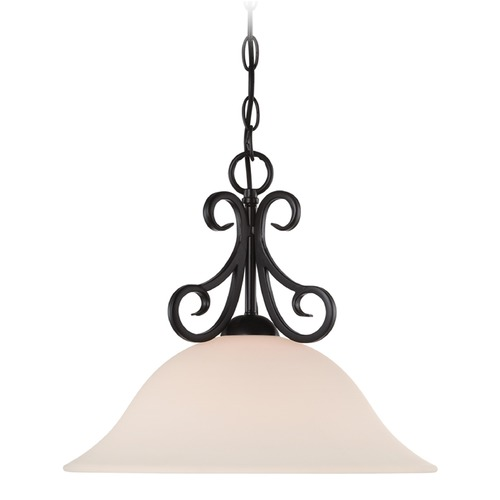 Designers Fountain Lighting Designers Fountain Addison Oil Rubbed Bronze Pendant Light with Bowl / Dome Shade 85232-ORB