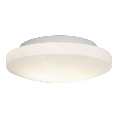 Access Lighting Modern Flushmount Light with White Glass in White Finish 50160-WH/OPL