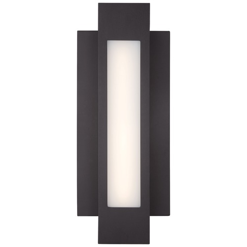 George Kovacs Lighting Minka Insert Pebble Bronze LED Outdoor Wall Light P1231-286-L