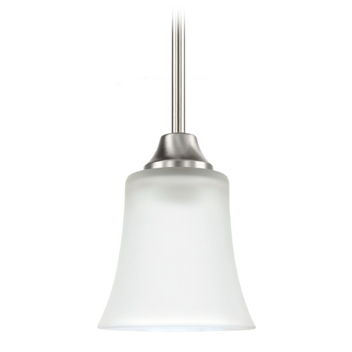 Sea Gull Lighting Mini-Pendant Light with White Glass 69806BLE-962