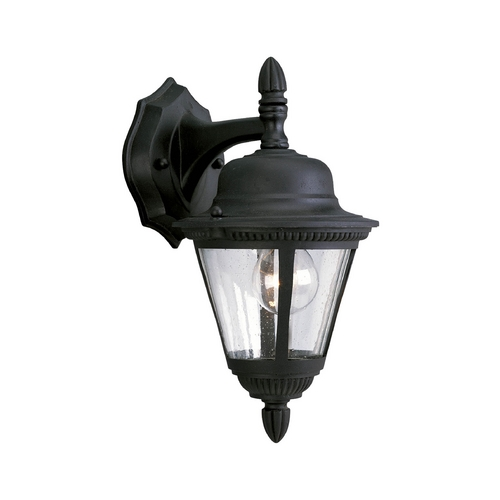 Progress Lighting Progress Outdoor Wall Light with Clear Glass in Textured Black Finish P5862-31