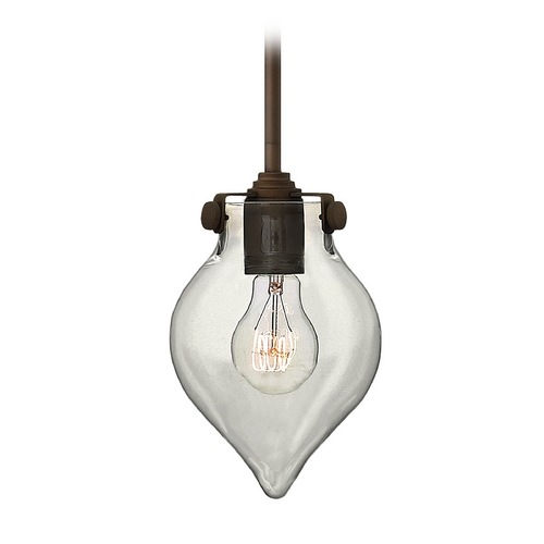 Hinkley Lighting Mini-Pendant Light with Clear Glass 3139OZ