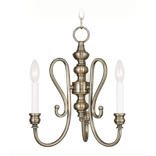Livex Lighting Livex Lighting Caldwell Antique Brass Mini-Chandelier 5163-01