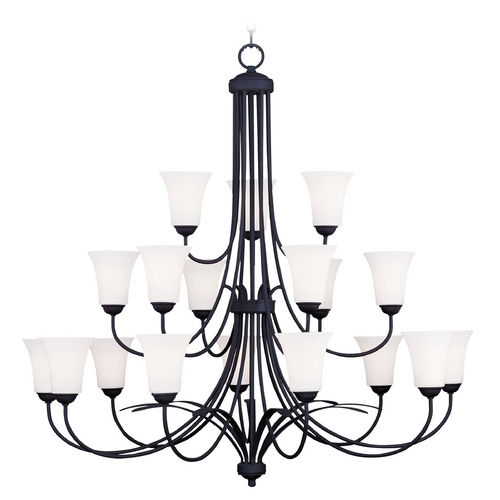 Livex Lighting Livex Lighting Ridgedale Black Chandelier 6479-04