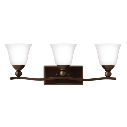 Hinkley Lighting Hinkley Lighting Bolla Olde Bronze Bathroom Light 5893OB-OPAL