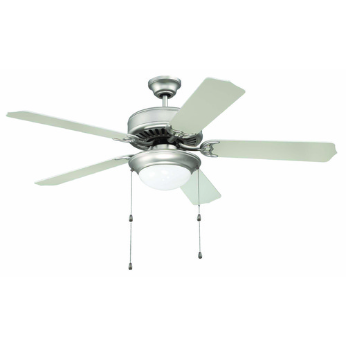 Craftmade Lighting Craftmade Pro Builder 209 Brushed Satin Nickel Ceiling Fan with Light K11128