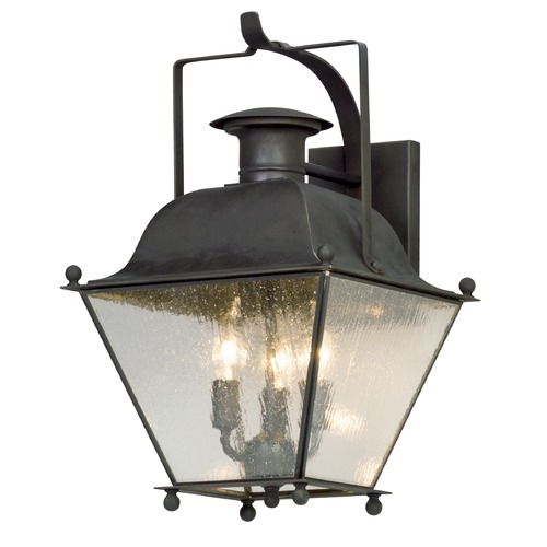 Troy Lighting Troy Lighting Wellesley Charred Iron Outdoor Wall Light B5072CI