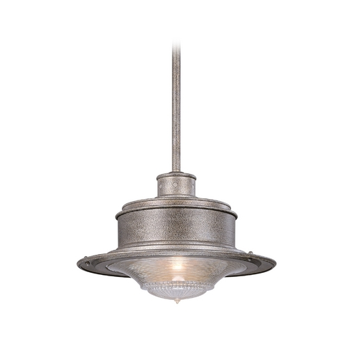 Troy Lighting Outdoor Hanging Light with Clear Glass in Old Rust Finish F9397OR