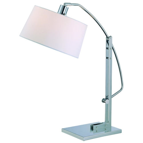 Lite Source Lighting Lite Source Lighting Karm Chrome Table Lamp with Square Shade LS-21560C/WHT
