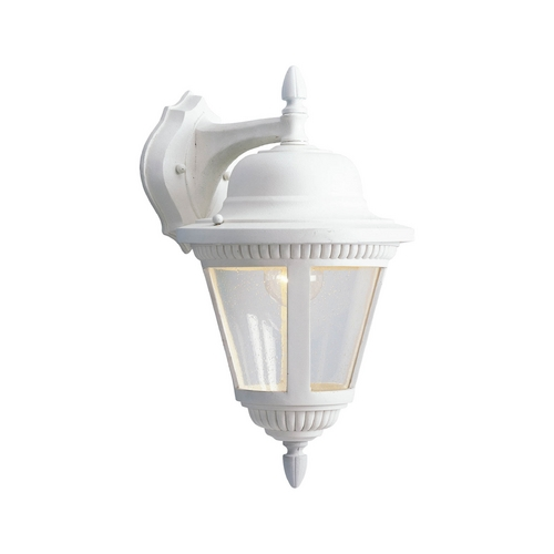 Progress Lighting Progress Outdoor Wall Light with Clear Glass in White Finish P5863-30