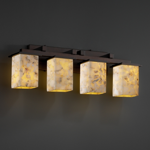 Justice Design Group Justice Design Group Alabaster Rocks! Collection Bathroom Light ALR-8674-15-DBRZ