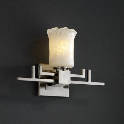 Justice Design Group Justice Design Group Veneto Luce Collection Sconce GLA-8701-16-WHTW-NCKL