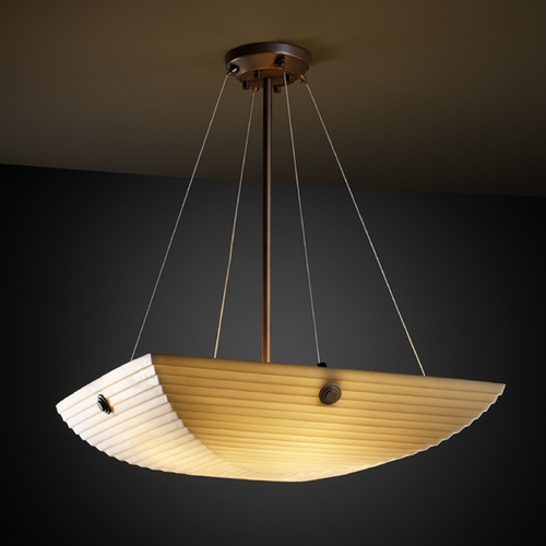 Justice Design Group Justice Design Group Porcelina Collection Pendant Light PNA-9662-25-SAWT-DBRZ-F6