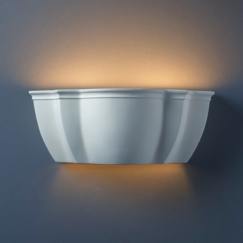 Justice Design Group Sconce Wall Light in Bisque Finish CER-1420-BIS