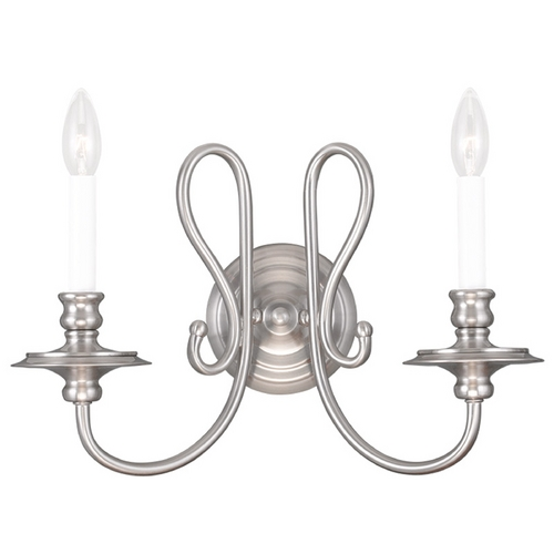 Livex Lighting Livex Lighting Caldwell Brushed Nickel Sconce 5162-91