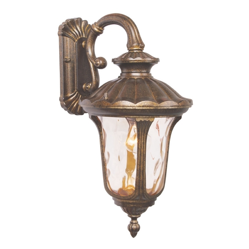 Livex Lighting Livex Lighting Oxford Moroccan Gold Outdoor Wall Light 7653-50
