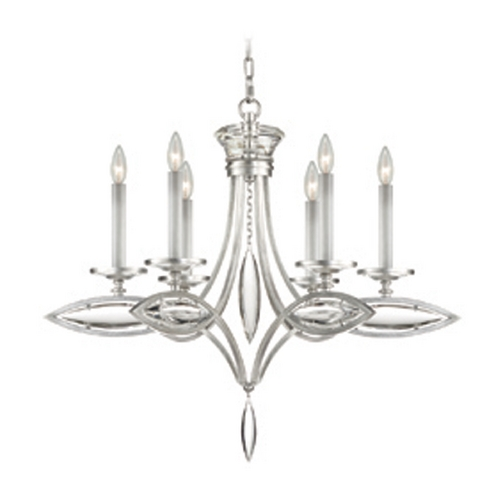 Fine Art Lamps Fine Art Lamps Marquise Platinized Silver Leaf Crystal Chandelier 843540-11ST