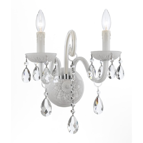 Crystorama Lighting Crystorama Lighting Envogue Wet White Sconce 1072-WW-CL-S