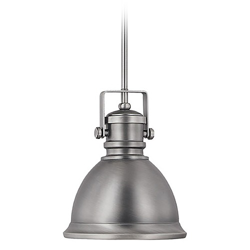 Capital Lighting Capital Lighting Antique Nickel Mini-Pendant Light with Bowl / Dome Shade 4431AN