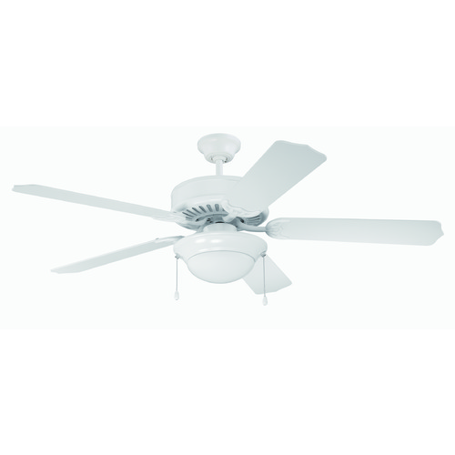 Craftmade Lighting Craftmade Pro Builder 209 White Ceiling Fan with Light K11130